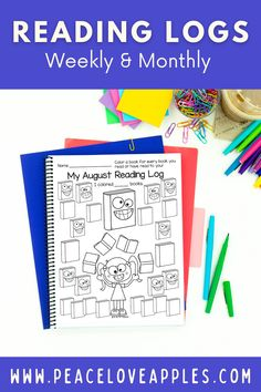 Use these reading logs to make reading at home fun! These can be used weekly or monthly and included differentiated recording pages. These no prep, printable reading logs are perfect for your Kindergarten and 1st grade students.