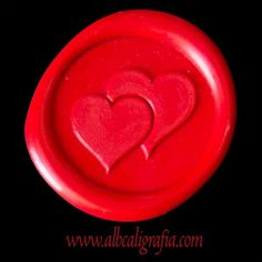 """<p> Scarlet scarlet red wax medallion with hearts<br /> <a href=""""http://www.seal-wax.com/eng/sealing-wax-line-colors.php"""">http://www.seal-wax.com/eng/sealing-wax-line-colors.php</a></p>"""