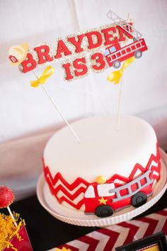 Fire Truck Themed Birthday Party with Lots of Really Cute Ideas via Kara's Party Ideas | KarasPartyIdeas.com #FiremanParty #FiretruckParty #...