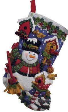 Bucilla Snowman with Birds Felt Stocking Kit