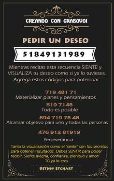 CODIGOS GRABOVOI - PEDIR UN DESEO 51849131989