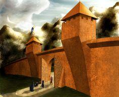 The Gates of Gondolin Part III, Gate of Bronze by danthalion on deviantart