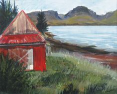 The red shed, Achintraid March Month, Metal Buildings, Scottish Highlands, Art Decor, Scenery, Shed, Fine Art, Artist, Handmade