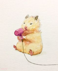 creative campaign Japanese Artist Gotte Depicts The Typical Life Of His Pet Hamster, Sukeroku. The Result Is Adorable Cute Animal Drawings, Cute Drawings, Japanese Hamster, Art Inspo, Art Du Croquis, Art Mignon, Cute Hamsters, Art Et Illustration, Illustrations