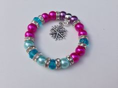 Disney Frozen Inspired Bracelet  Anna fancy by Boughtwiththought, £4.50