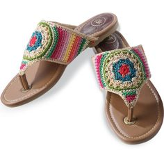 The Sak Colorful Crochet Thong Sandals | eBay