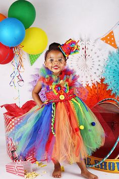 Circus tutu dressClown tutu dress circus clown by GlitterMeBaby, $70.00