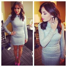 Janel Parrish looked chic on the Ellen show wearing a dress from the 2nd Skin Co. | Pretty Little Liars