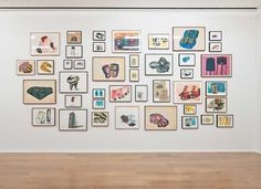 Installation view, Phyllida Barlow. Fifty Years of Drawings (2014) Photo: Alex Delfanne via Hauser & Wirth, London