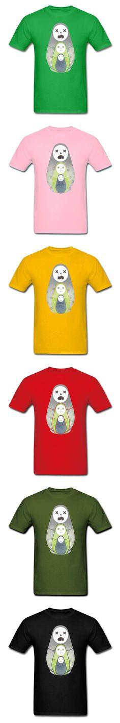 Zombie nesting dolls Russia T-Shirt New Summer Men Womens Fashion Fitness Cotton Funny t shirts Hip Hop Male Streetwear Tops