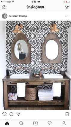 Mirrors and tile