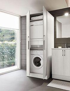 Mobile a colonna per lavatrice e asciugatrice bathroom - Mobile per lavatrice e asciugatrice da esterno ...