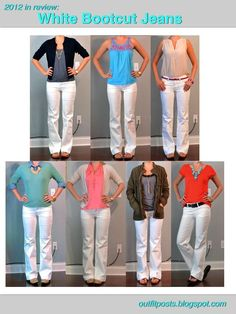 Outfit Posts: 2012 in review - outfit posts: white bootcut jeans