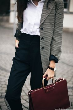 Fashion Inspiration | Checked Blazer & White Shirt