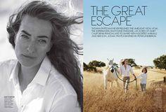 The Great Escape, Peter Lindbergh | Tatjana Patitz, American Vogue 2012 | Grace Coddington, Didier Malige, Stéphane Marais, Evan Jourden | California