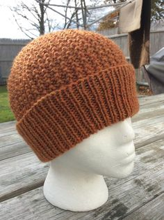 Mens Knit Beanie Mens Knit Hat Wool Teen Boy by WendysWonders127
