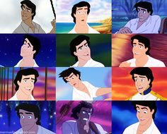 Prince Eric- My first ever crush.  :P On a cartoon character, how original LOLOL