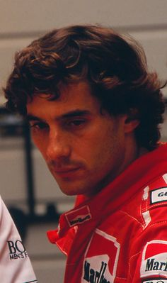 Besides all his other qualities, Ayrton Senna had the best hair. Sighhh.