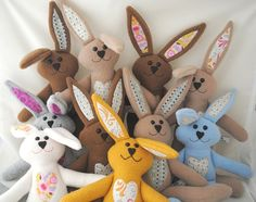 Easter Bunny Customized Just for You by CuddleWumkins on Etsy, $20.00