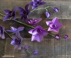 DIY Paper Orchids