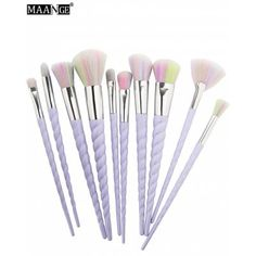 Just US£10.12 + free shipping, buy MAANGE 10 Pcs Unicorn Makeup Brushes Set online shopping at GearBest.com.
