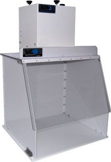 Model 324 ductless fume hood is used by one of the artists featured on our Jewel Day board.  http://www.sentryair.com/specs/Ductless-Fume-Hood-Spec-324-DCH.htm