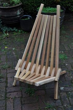 Cedar Stick Chair - Not your ordinary Adirondack Chair - Mid century design - #Handmade