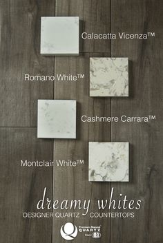 Crisp, bright, and fresh. It's no wonder why we're obsessed with dreamy white quartz countertops! Q™ from MSI offers more than 15 stunning whites, even some gorgeous marble looks. Transform your kitchen or bath with one of these stylish beauties!