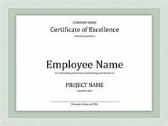 22 Best Award Certificates Images Award Certificates Certificate