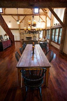 Fultonville Barn by Heritage Barns This barn turned into a house is pretty neat! 50 Dizzy Eclectic decor Ideas To Inspire Your Ego – Fultonville Barn by Heritage Barns This barn turned into a house is pretty neat! Barn Renovation, Bois Diy, Barn Living, Farmhouse Table, Farmhouse Ideas, Rustic Farm Table, French Farmhouse, Country Farmhouse, Rustic Wood