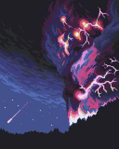 Storm study by matt0 #pixelart