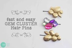 DIY: Gem Cluster Hair Clips