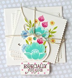 Especially For You Tag and Card Set by Michelle Leone for Papertrey Ink (April 2017)