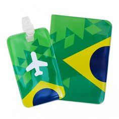 Porta-passaporte e identificador de bagagem Triangulos