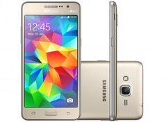 """Smartphone Samsung Galaxy Gran Prime Duos 8GB - Dourado Dual Chip 3G Câm. 8MP + Selfie 5MP Tela 5"""""""