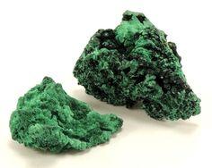 Combination of two natural crystalline malachite specimen, Congo, 67 g