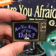 Are You Afraid of the Dark Soft Enamel Pin by hopesick on Etsy https://www.etsy.com/listing/522667985/are-you-afraid-of-the-dark-soft-enamel