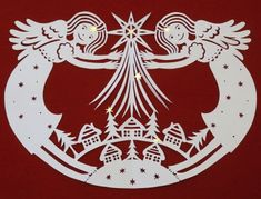 Anges de Noel. - paper cutting