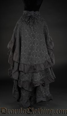Brocade Layer Bustle Skirt - Ladies Clothing