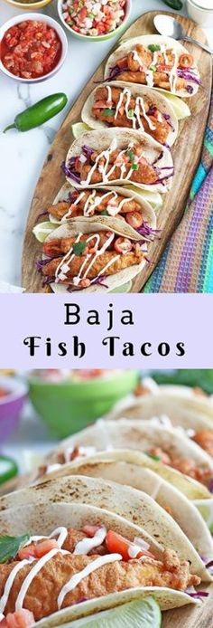Baja Fish Tacos recipe: beer-battered white fish nestled inside a warm tortilla with chipotle lime crema for an island-inspired recipe that will make you feel like you're on vacation! Quick Meals, Fast Dinners, Easy Meal Prep, Seafood Recipes, Mexican Food Recipes, Copycat Recipes, Drink Recipes, My Best Recipe, Recipe For Mom