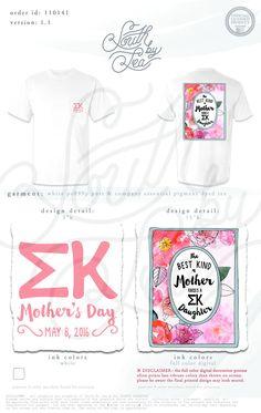 Sigma Kappa | Mother's Day | Mom's Weekend | The Best Kind of Mother Raises a Sigma Kappa Daughter | South by Sea | Greek Tee Shirts | Greek Tank Tops | Custom Apparel Design | Custom Greek Apparel | Sorority Tee Shirts | Sorority Tanks | Sorority Shirt Designs