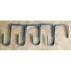 Short Square-hook 4 x 10cm long, handmade, Australian longlife blue
