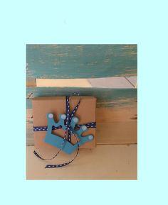 μπομπονιέρα βάπτισης κραφτ κουτάκι