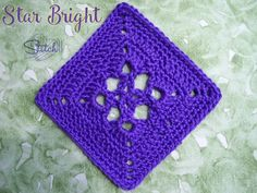 Star Bright - 6 inch crochet square, free crochet pattern by Stitch11. This square is part of the Mystery Lapghan CAL 2015.