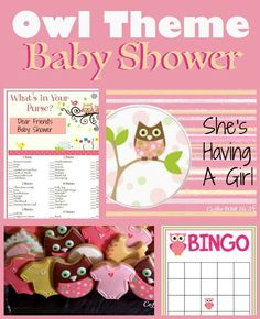Adorable ideas for an Owl Theme Baby Shower! Includes ideas for games, food and drink, invitations, and more!