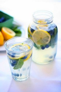 Blueberry Mint Lemonade #recipe
