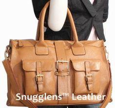 Leather Camera Bag Purse Unisex Camel Messenger by SnugglensANNEX, $145.00