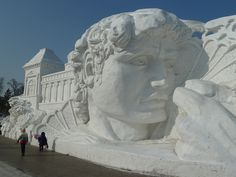 Snow Sculpture Festival - Harbin, China by markpanama, via Flickr