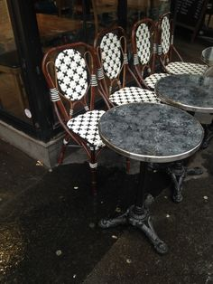 25 best french bistro chairs and tables images diners dining rh pinterest com