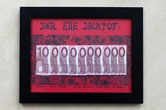 """Das Geldgeschenk """"Ehe-Jackpot"""" könnt ihr einfach zur Hochzeit selbst basteln. Kreativ und witzig! MIT DIY-ANLEITUNG."""